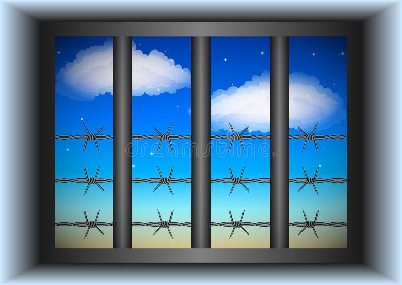 Okno za kratkami ilustracji