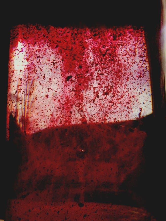 okno zakrywający z krwionośną straszną atmosferą fotografia royalty free
