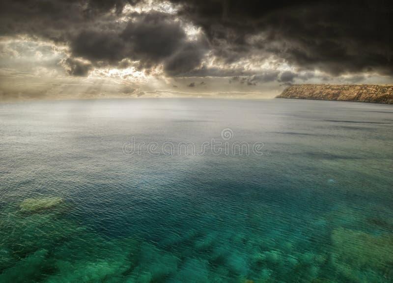 około Hawaii burzy fotografia stock