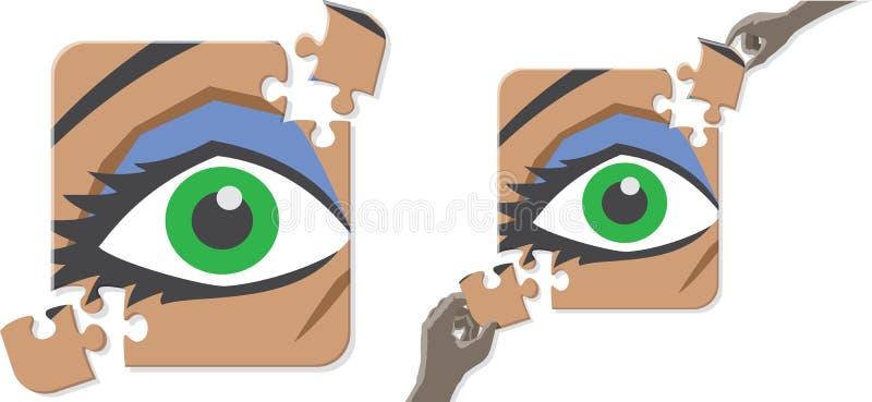 Oko łamigłówka royalty ilustracja