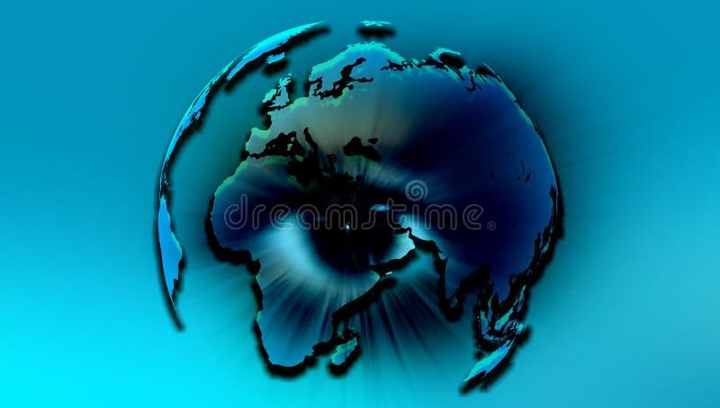 Oko Światowa kula ziemska r?wnie? zwr?ci? corel ilustracji wektora royalty ilustracja