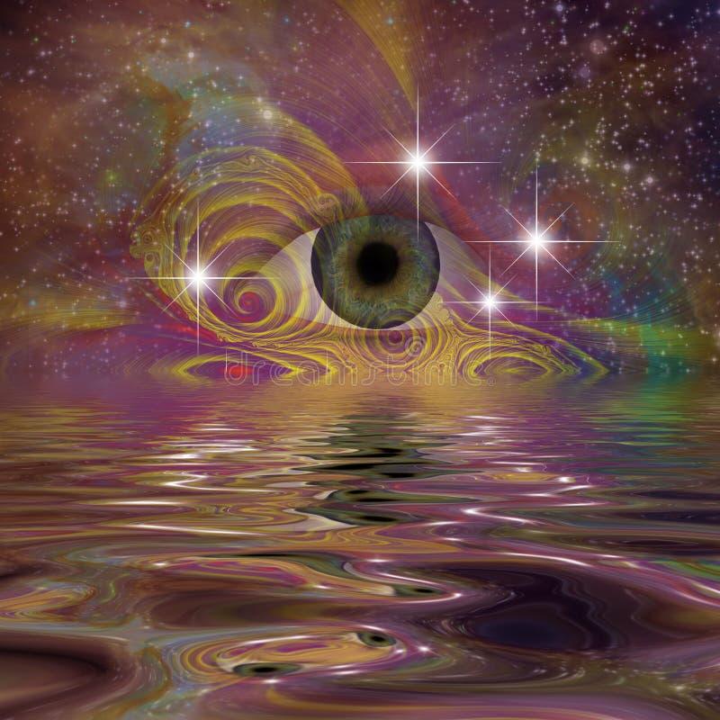 Download Oko ilustracji. Ilustracja złożonej z galaxy, piękny - 41952635