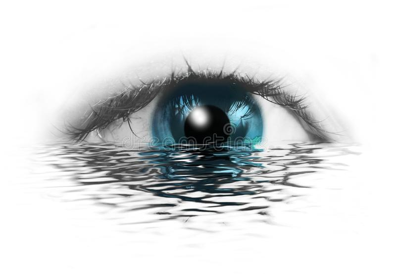 oko abstrakcjonistyczna istota ludzka ilustracja wektor