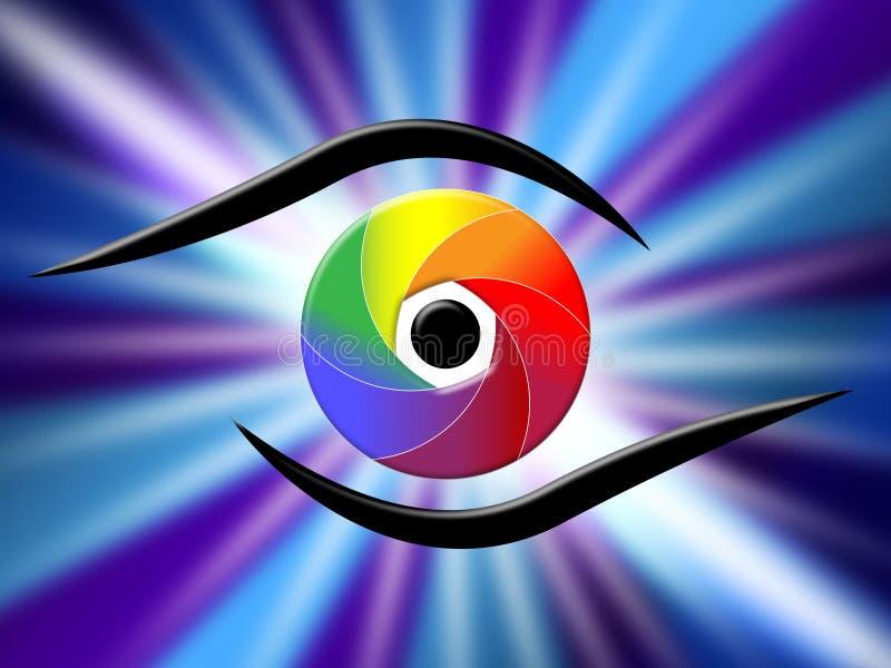 Oko apertura I Chromatyczny Reprezentujemy koloru przewdonika royalty ilustracja