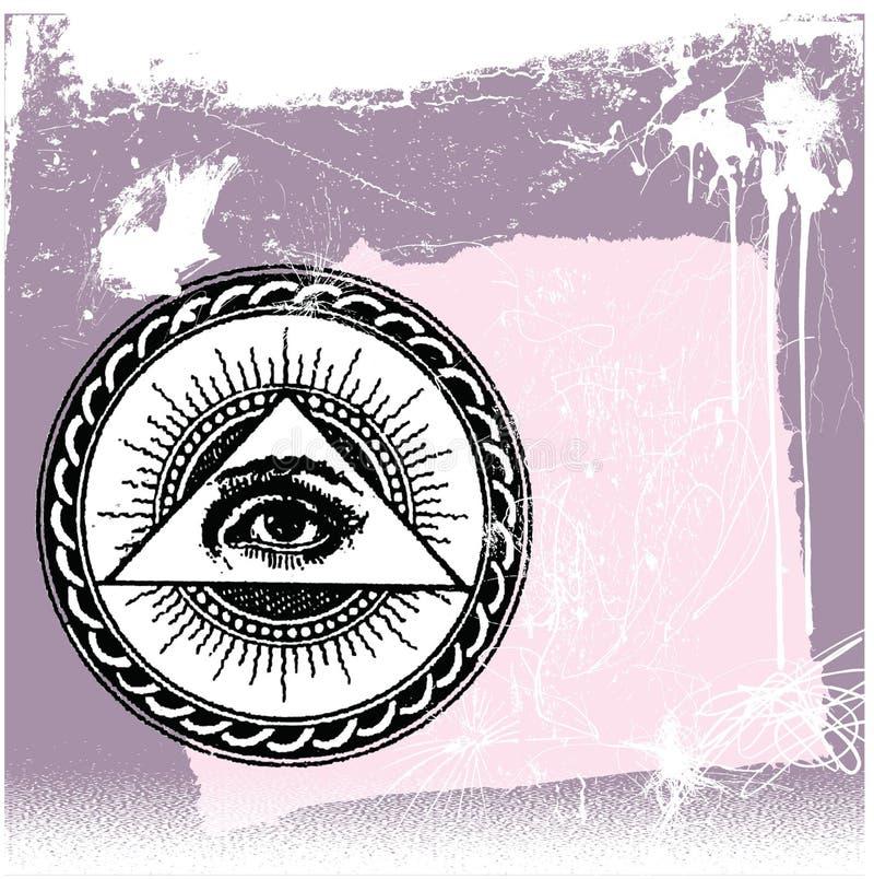 oko bóg s royalty ilustracja