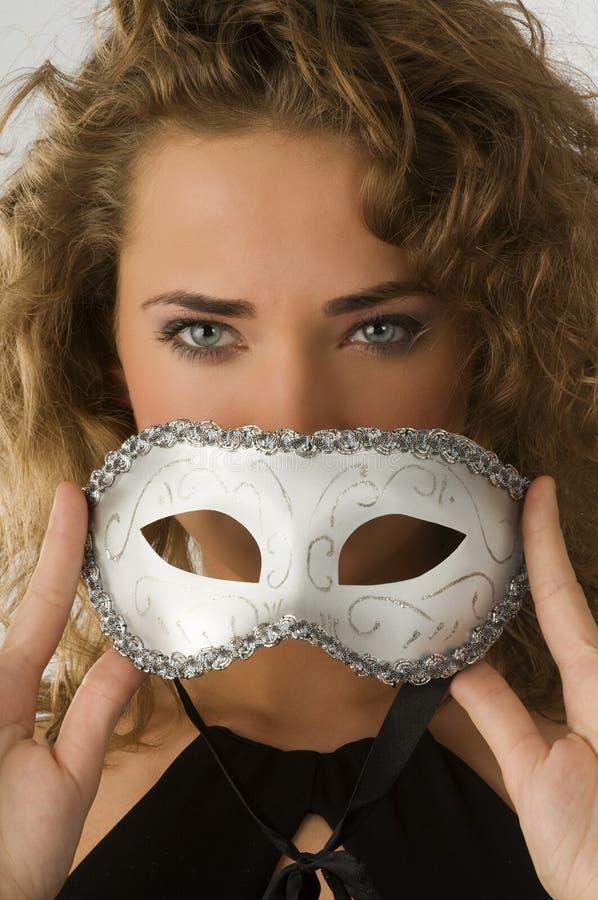 oko błękitny karnawałowa maska zdjęcia stock