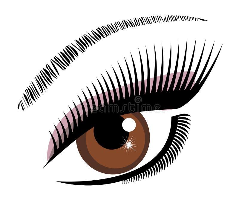 Oko brown wektor ilustracji