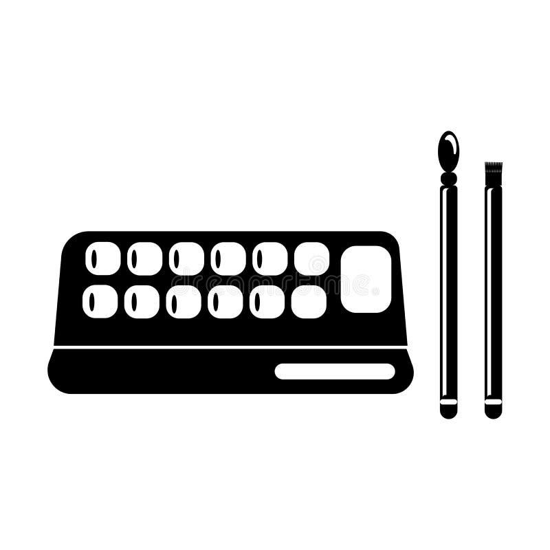 Oko cieni makeup ikony wektoru znak i symbol odizolowywający na białym tle, oczy cienimy makeup logo pojęcie ilustracji