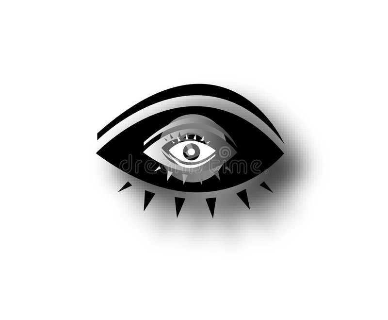 oko dekoracyjna grafika jeden royalty ilustracja