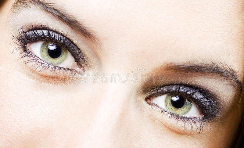 oko dziewczyna zdjęcie stock