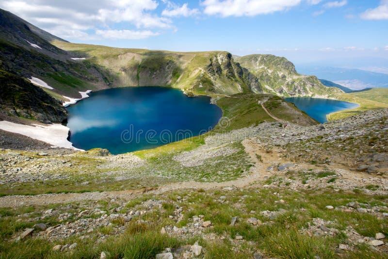 Oko i Cynaderki jeziora Siedem Rila jezior, Rila góra fotografia royalty free