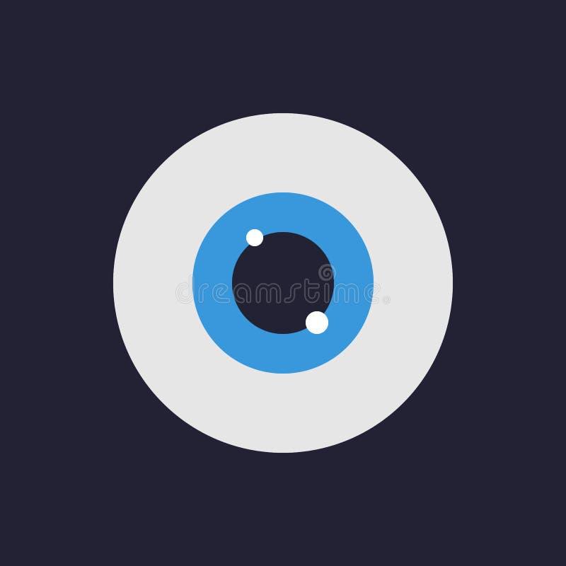 Oko ikona Płaski projekta styl Wektorowa ilustracja dla twój deisgn ilustracja wektor