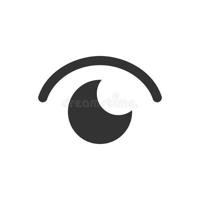 Oko ikona Prosta p?aska projekt ikona ilustracja wektor