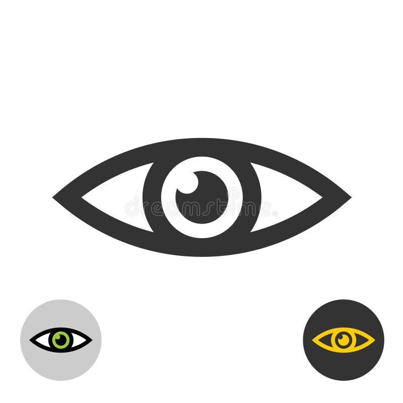 Oko ikona Prosty czarny kreskowego stylu oka symbol royalty ilustracja