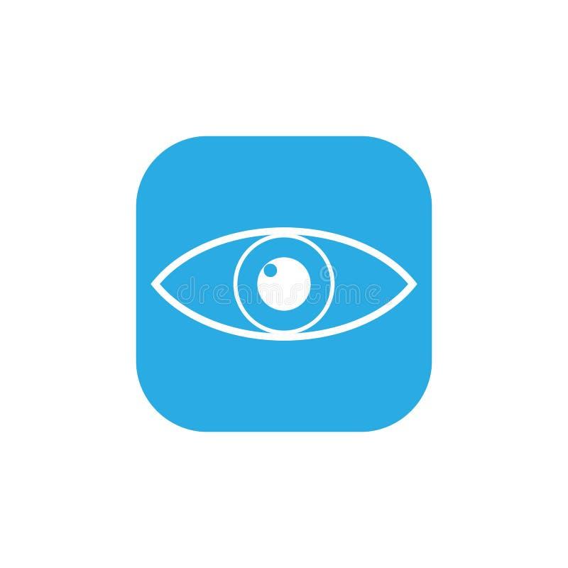 Oko ikona również zwrócić corel ilustracji wektora prosty płaski projekt royalty ilustracja
