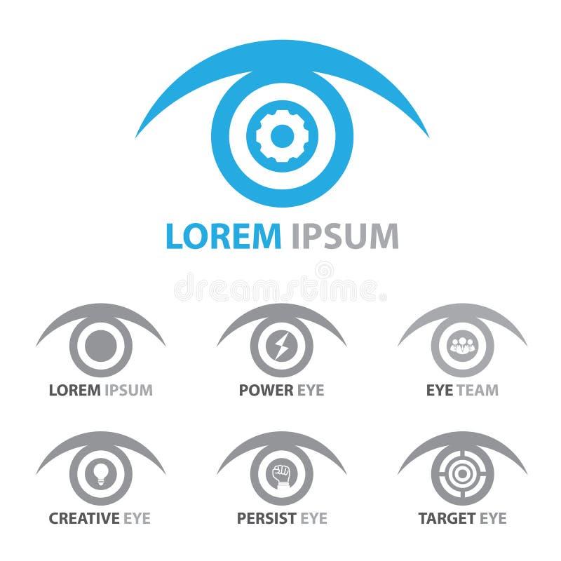 Oko ikony symbolu set ilustracji