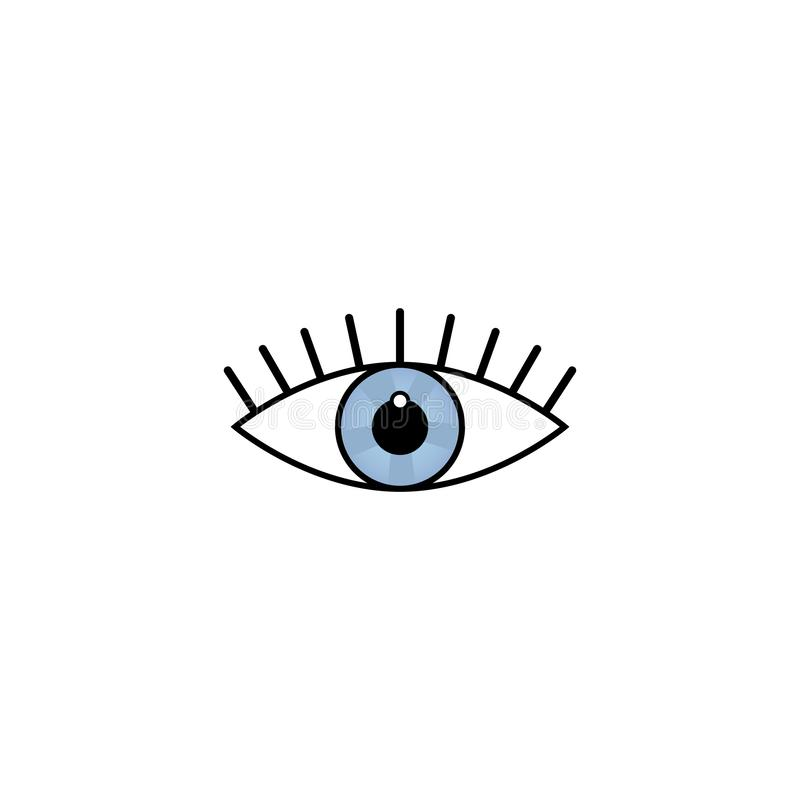 Oko ikony znaka symbolu opieki piękna projekta pojęcia wektorowa ilustracja na białym tle ilustracji