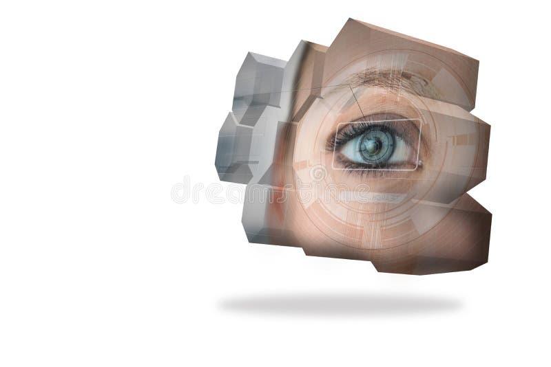 Oko interfejs na abstrakta ekranie ilustracji