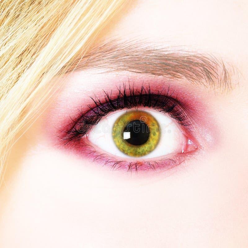 oko jest kobieta obraz stock