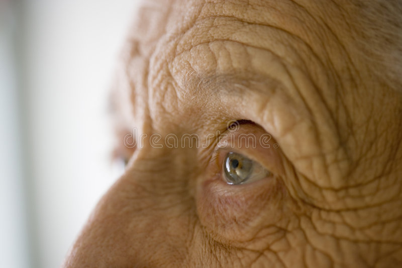 oko jest w ostatniej klasie kobieta fotografia stock