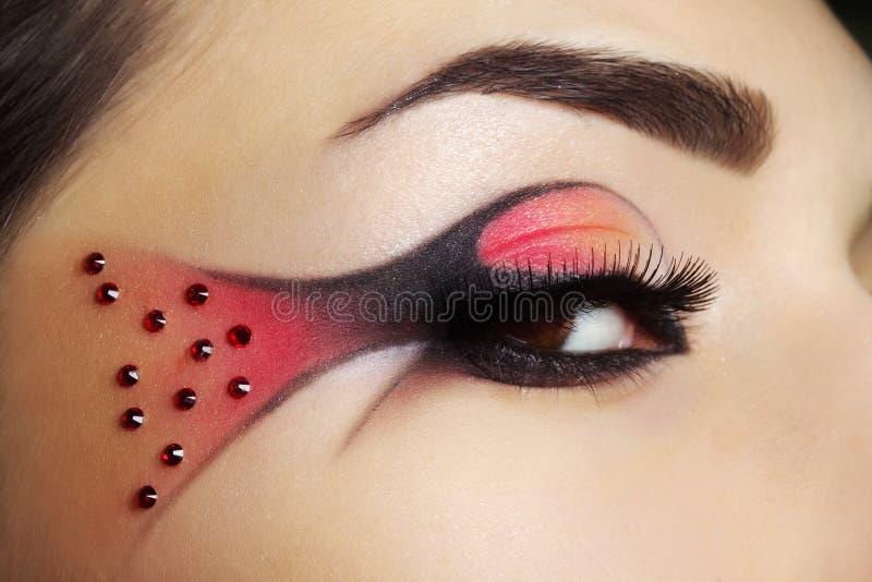 Oko kreatywnie makijaż zdjęcie stock