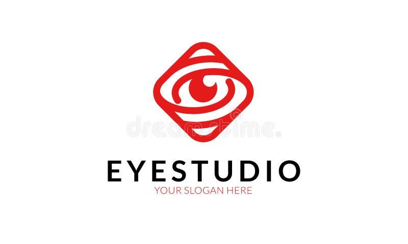 Oko loga Pracowniany szablon ilustracja wektor