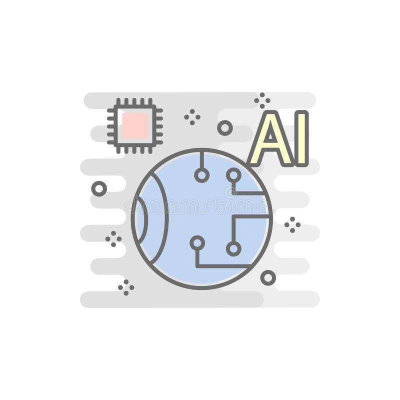 oko mądrze barwiona ikona Element barwiona mądrze technologii ikona dla mobilnych pojęcia i sieci apps Koloru oka mądrze ikona mo ilustracja wektor