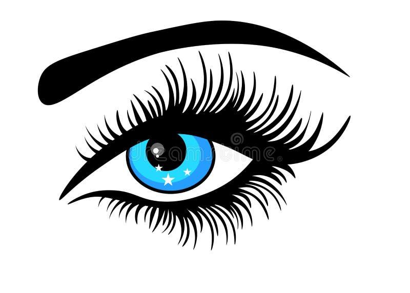 Oko na białym tło wektorze ilustracja wektor