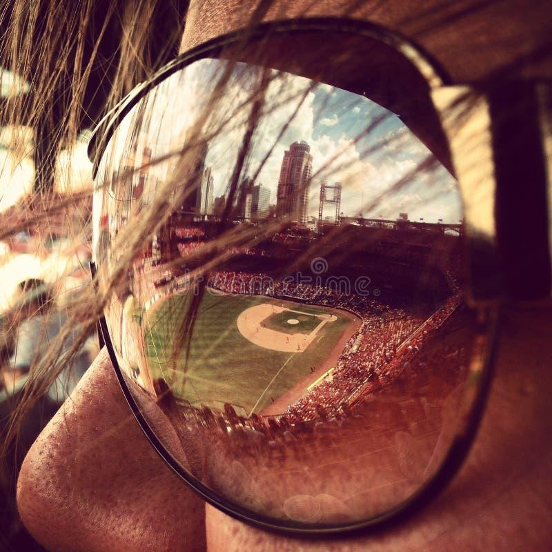 Oko na piłce zdjęcia stock