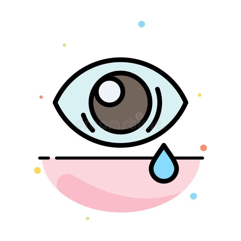 Oko, obwiśnięcie, oko, Smutny Abstrakcjonistyczny Płaski kolor ikony szablon ilustracja wektor