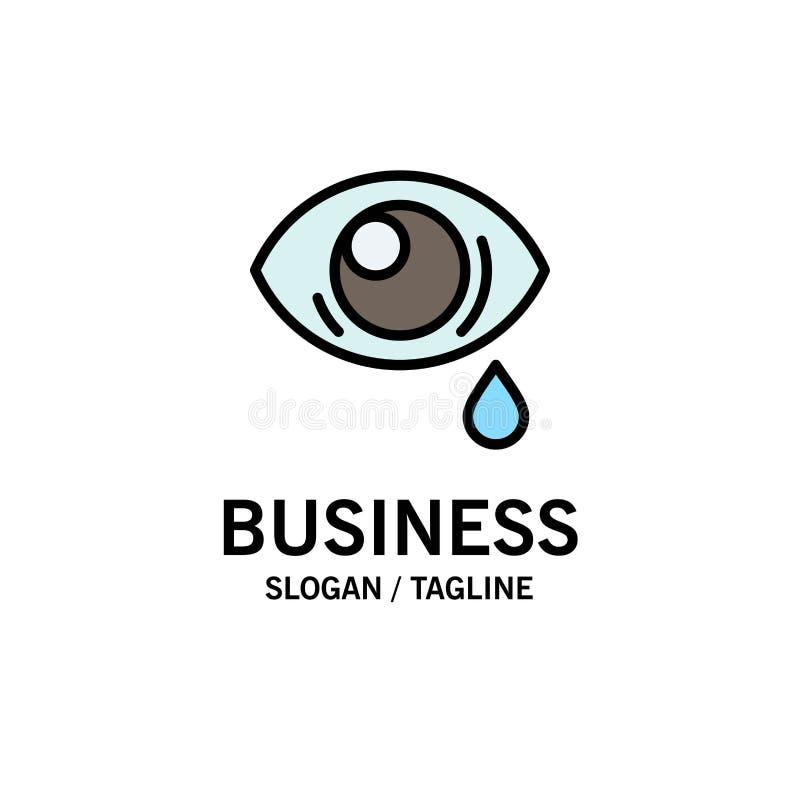 Oko, obwiśnięcie, oko, Smutny Biznesowy logo szablon p?aski kolor ilustracji