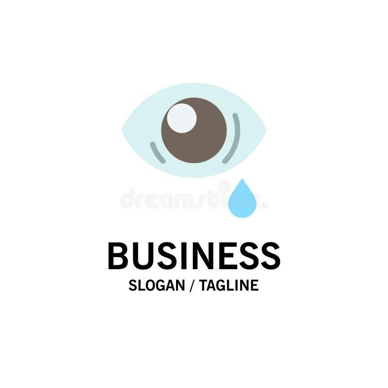 Oko, obwiśnięcie, oko, Smutny Biznesowy logo szablon p?aski kolor ilustracja wektor