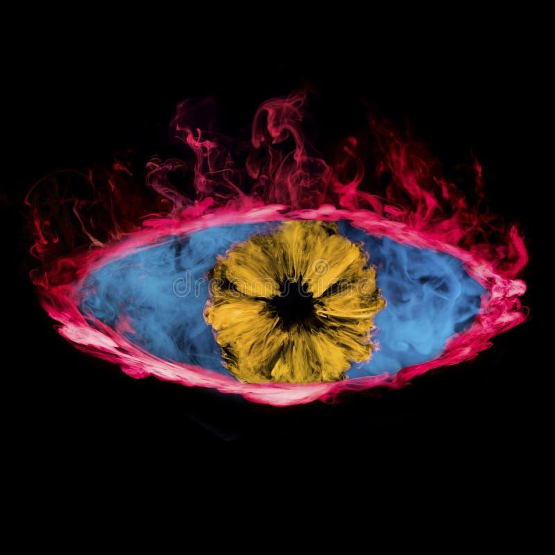 Oko od clorful dymu zdjęcia stock