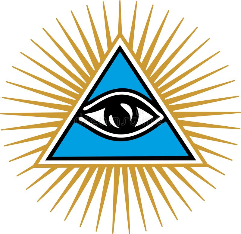 Oko opatrzność - Wszystkie Widzii oko bóg ilustracji