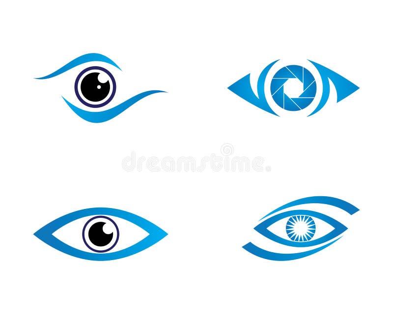 Oko opieki loga wektorowy projekt royalty ilustracja