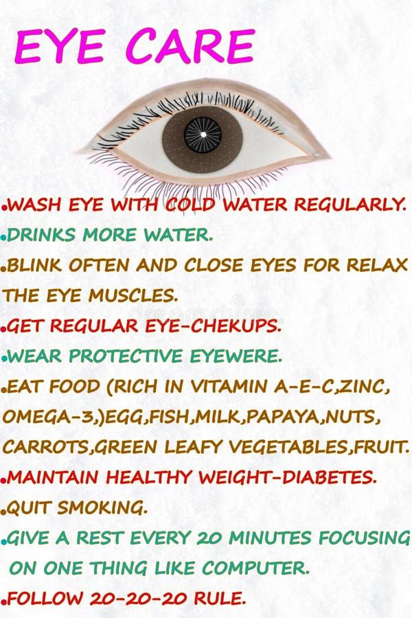 Oko opieki wellness odnosić sie słowa zdjęcie royalty free