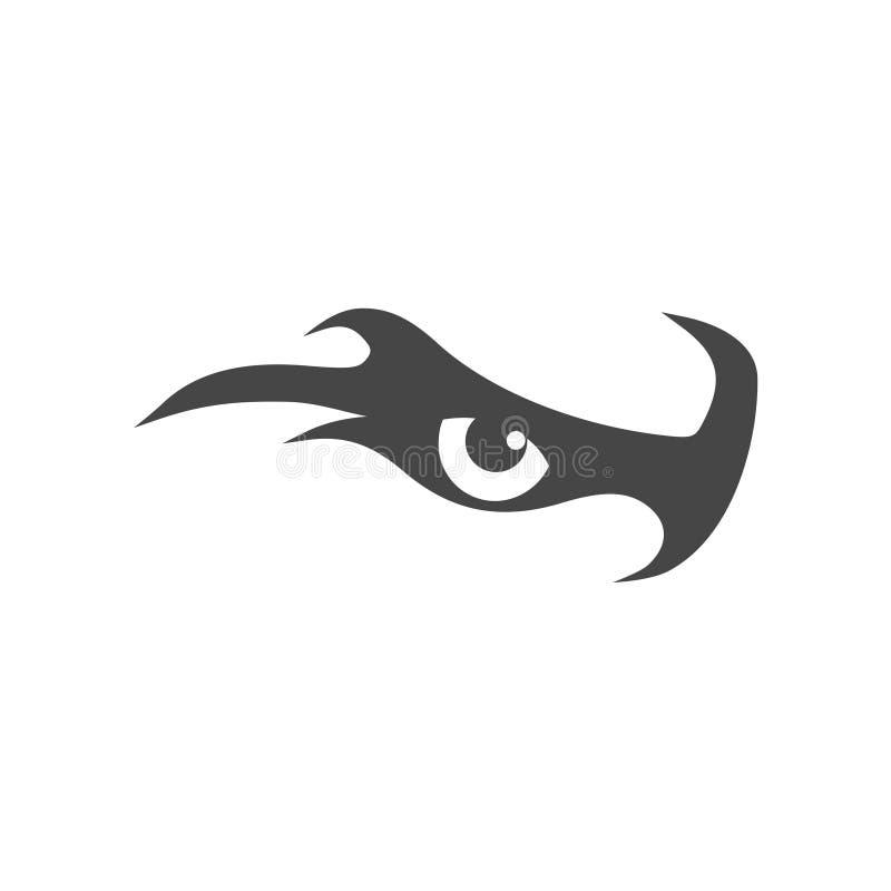 Oko orzeł ikona, orła logo ilustracja wektor