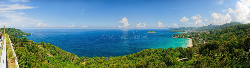 Oko panorama Phuket linia brzegowa obrazy royalty free
