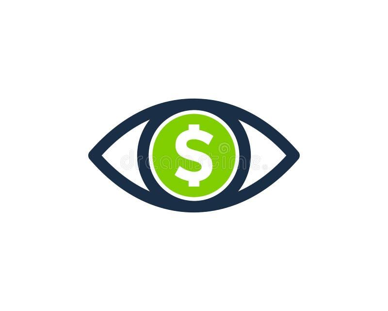 Oko pieniądze ikony loga projekta element royalty ilustracja