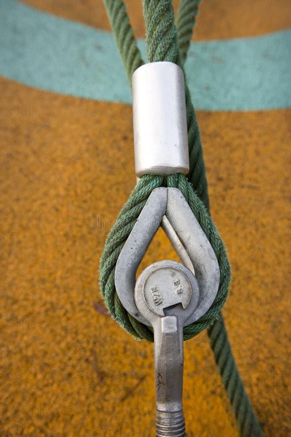 Oko rygiel zabezpiecza kabel ziemia obrazy stock