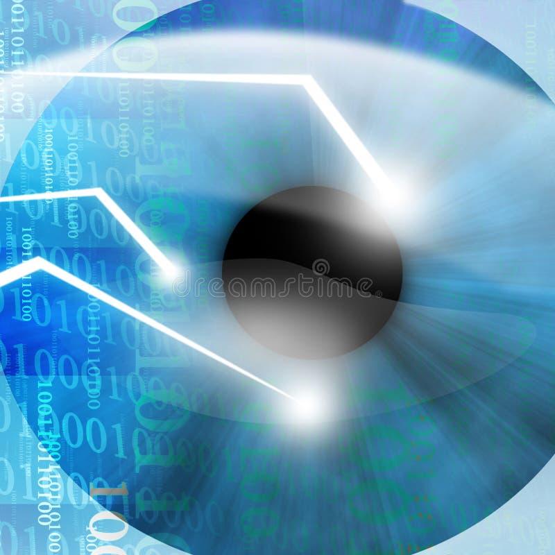Oko skanujący ochrony oprogramowaniem ilustracja wektor