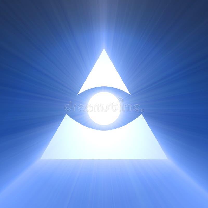 Oko skrzętności błękita światła raca ilustracji