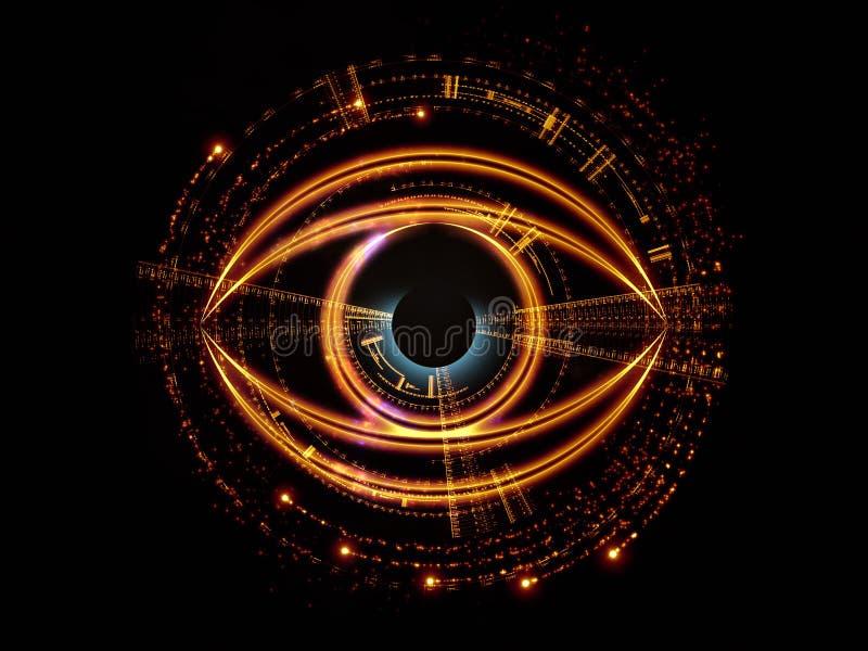 Oko sztuczna inteligencja royalty ilustracja