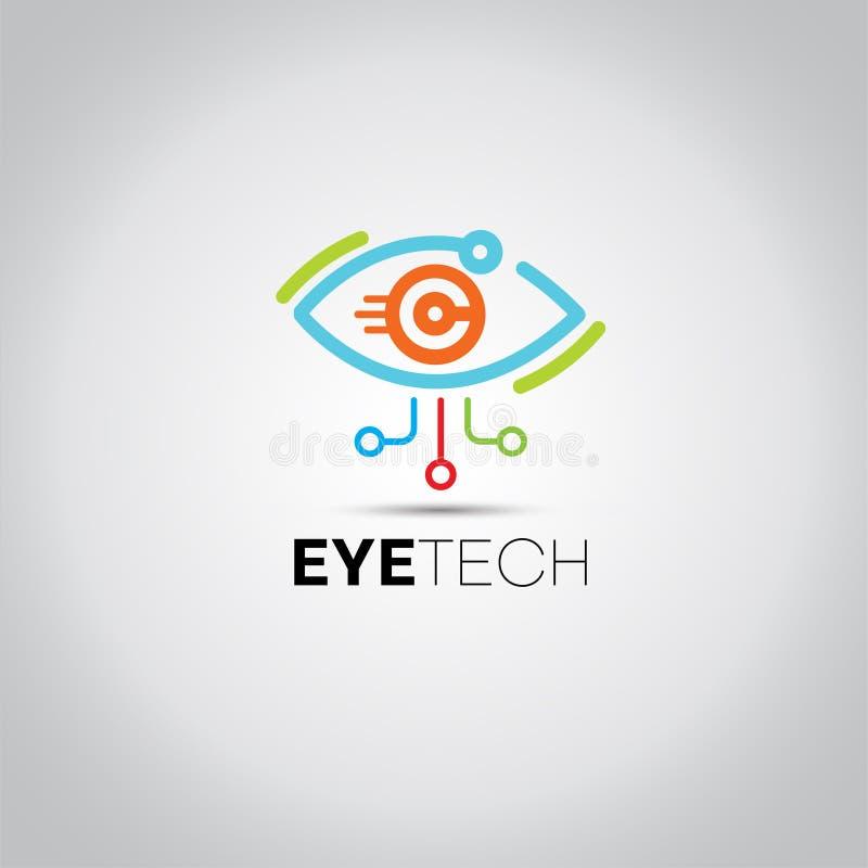 Oko techniki dane logo royalty ilustracja