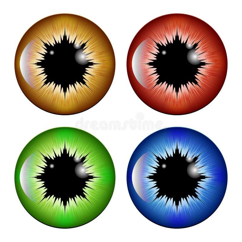 Oko, uczeń, irys, wektorowy symbol ikony projekt ilustracja wektor