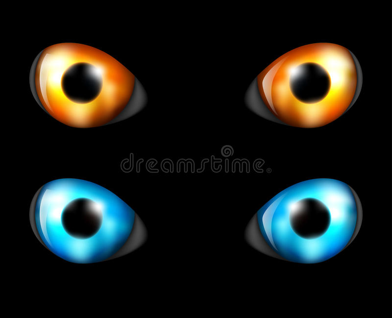 Oko ustawiający w zmroku royalty ilustracja