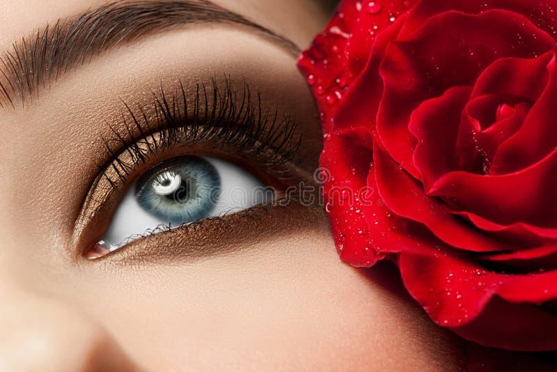 oko uzupełniająca kobieta fotografia stock