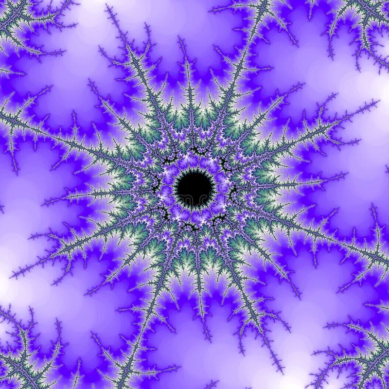 Oko w niebo abstrakta fractal ilustracji