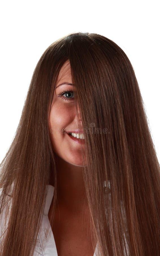 Download Oko włosy zdjęcie stock. Obraz złożonej z świeży, prosto - 17658902