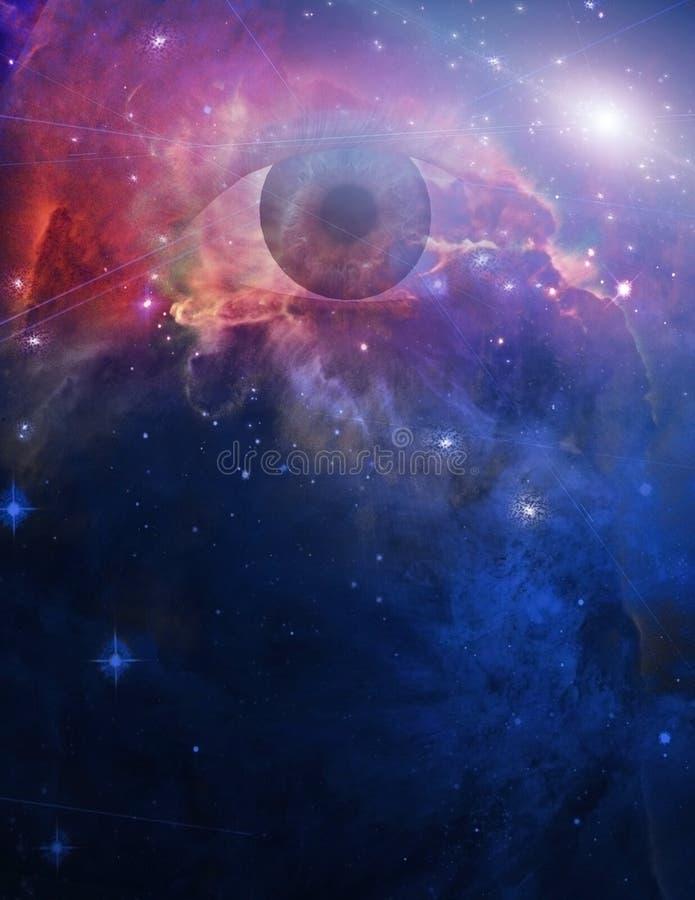Oko w przestrzeni ilustracji